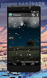 animated weather widget, clock