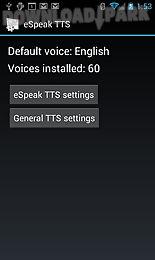 Espeak tts Android App free download in Apk