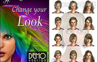 Magic mirror demo, hair styler