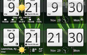 Sense analog clock widget 24