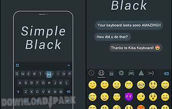 Simple black keyboard theme