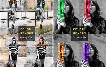 Color splash snap photo effect