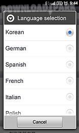 go sms pro italian language pa