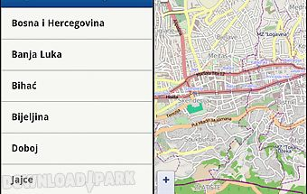 Maps of bosnia and herzegovina