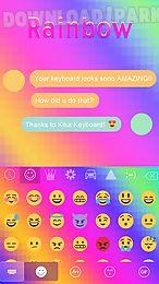 rainbow emoji ikeyboard theme