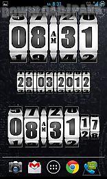 3d rolling clock widgets white