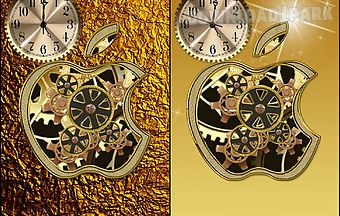Golden apple clock