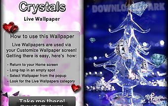 Crystals live wallpaper