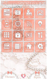 Cute theme-girly eiffel tower- Android App free download in Apk