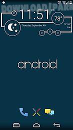 Minimal - zooper widget pro Android App free download in Apk