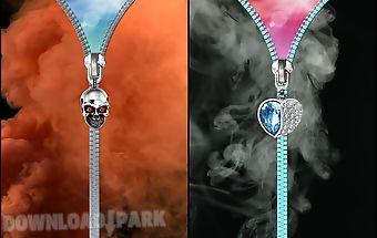 Smoke lock screen. zipper