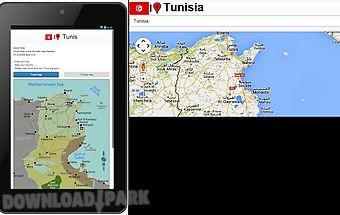 Tunis map