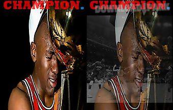 Michael jordan champion live wal..