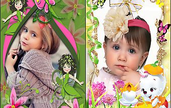 Precious girl kid photo frames
