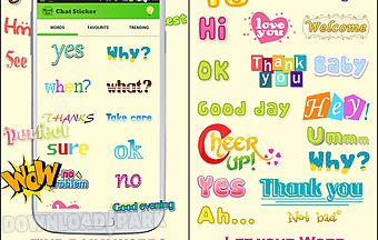 Wordart chat sticker w free