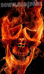fire skulls live wallpaper
