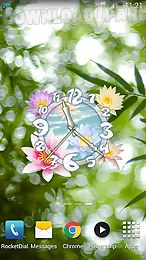 flower clock live wallpaper