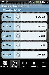 ifarz - islamic prayer time