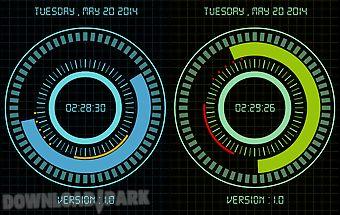 Animated digital clock free