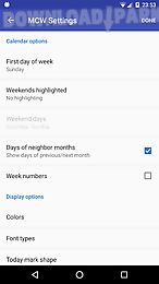 Month calendar widget Android App free download in Apk