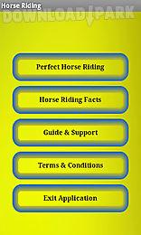 horse riding - tips
