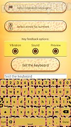 cute cheetah keyboard theme