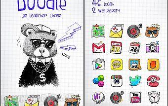 Doodle go launcher theme