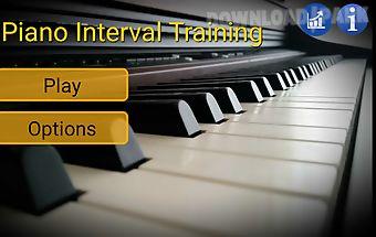Piano interval training