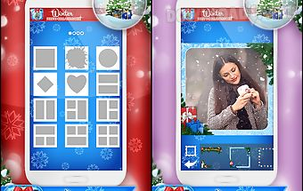 Winter photo collage maker