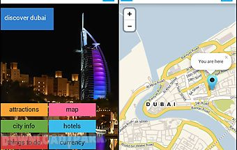 Dubai offline map guide hotels