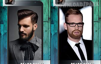 Beard booth photo montage