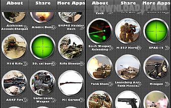 Weapon sounds gunshots