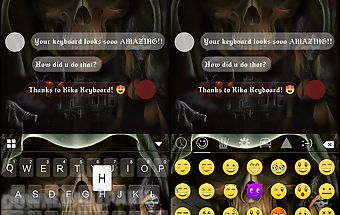 Zombie night keyboard theme