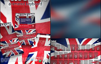 British animated keyboard