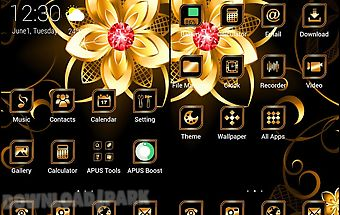 Golden-apus launcher theme