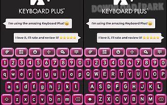 Keyboard plus neon pink