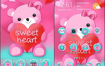 Sweet heart go launcher theme