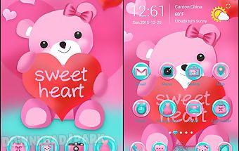 Sweet heart go launcher theme