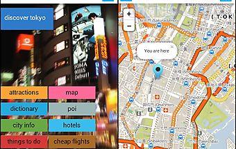 Tokyo offline map guide hotels