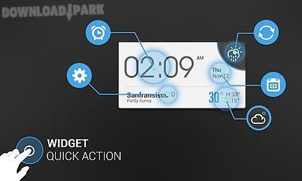 45e05d29bbe Weather clock cool widget Android Aplicaçõe Baixar grátis em Apk