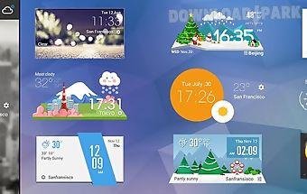 Weather clock cool widget