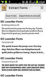 Extract fonts Android App free download in Apk
