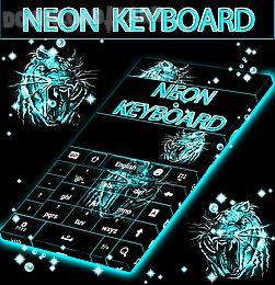 neon keyboard tiger