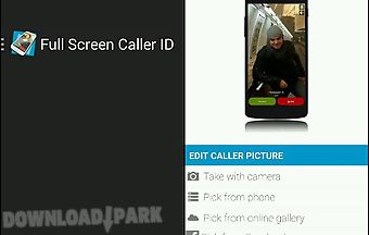 Full screen caller id