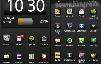 Black chrome go launcher theme