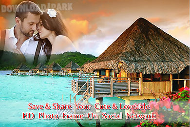 honeymoon photo frame