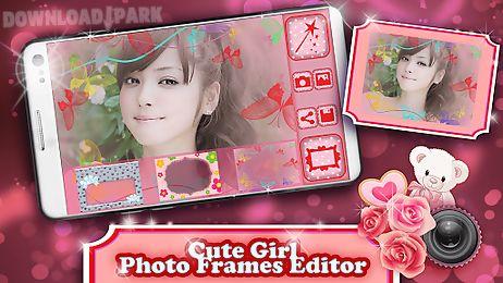 Cute girl photo frames editor Android Aplicación gratis descargar Apk
