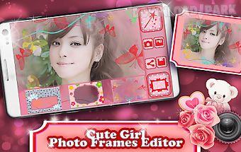 Cute girl photo frames editor