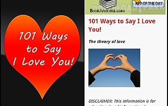 101 ways to say i love you