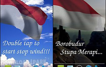 3d indonesia flag lwp